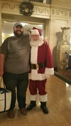 Santa Clause and Larry of Sawfish Online at the Brown Hotel. It was such a surprise and made for a Wonderful Christmas.