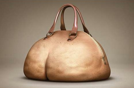 realistic butt purse